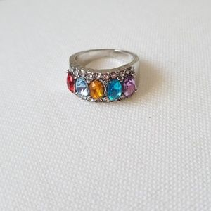 Jewelry - GORGEOUS CRYSTAL GEMSTONE WEDDING RING NEW SIZE 7